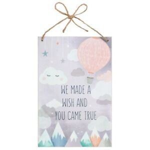 We Made A Wish And You Came True Hanging Wall Plaque Wooden Sign Baby Child Love