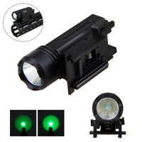 3000LM White/Green LED Rifle Flashlight Torch Lamp Fits Weaver / Picatinny Rail