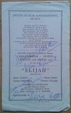 multi-signed Elijah programme Corn Exchange Devizes 13/03/1951 Norman Walker