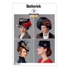Butterick Sewing Pattern B6397 6397 Making History Historical Misses Hats