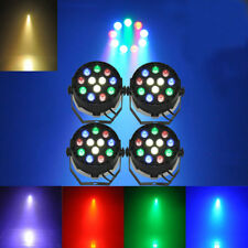 4PCS Music Active 12 LED RGBW 8Ch DMX512 Led Stage Strobe Light Par DJ Lighting