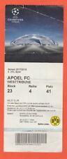 Orig.Ticket   Champions League  2017/18  BORUSSIA DORTMUND - APOEL NICOSIA  !!