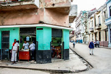 "Neil Reichline Photo, ""Streetcorner Food Vender"" Havana Central, Cuba,"