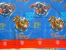 TRANSFORMERS Revenge Of Fallen BED SHEET Top/Flat Twin Bumblebee Optimus Prime