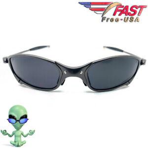 Julie ET X-Frame Metal Sunglasses with UV400 Polarized Black Iridium Lenses