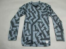 Nike Pro Combat Size L (14-16) Boys Gray Dri-Fit Athletic Top Jersey Shirt 032