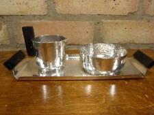 More details for lovely modernist georg nillson for gero silver plated sugar & cream set c.1935