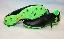 UNDER ARMOUR MAGNETICO PRO FG SOCCER CLEATS BLACK/GREEN SIZE10.5 (3000111-002)