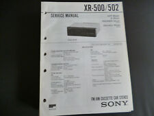 ORIGINALI service manual Sony xr-500/502