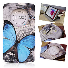 FLIP COVER LG G3 D850 Butterfly WINDOW LEATHER CASE SLIM BACK SHELL HARD MOBILE
