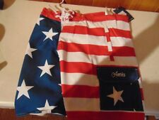 MENS AMERICAN FLAG USA SHORTS SIZE MEDIUM WORLD CALHOUN FOR 4TH OF JULY