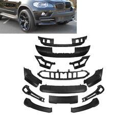 For 07-10 BMW X5 E70 Lip Full Aerodynamic Bumper Body Lip Kit 13pcs Front & Rear
