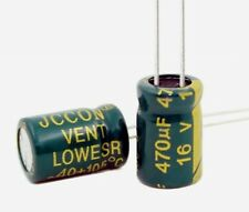 2x condensateur électrolytique 16V 470uF 2x Radial Aluminium Capacitor 8x12mm
