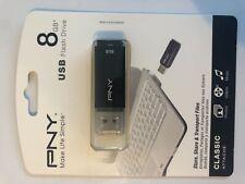 PNY 8GB Classic Attach Flash Drive (P-FD8GBCLCAP-GE)