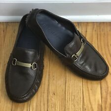 Men's Cole Haan Driving Moccasin Loafers Shoes made in India 10M Brown - Nice!!