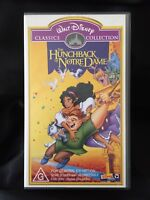 WALT DISNEY ~ THE HUNCHBACK of NOTRE DAME ~ AS NEW VHS VIDEO