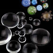 Transparent Klar Rundes Glas Kuppel Flachrücken Cabochon Scrapbooking 8-58mm
