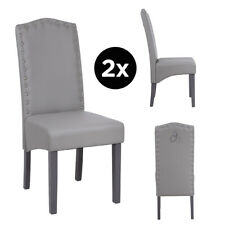 Faux Leather Resilient Dining Chairs, Chrome Knocker, Wipeable, Spill Resistant