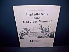 Data East Atom Runner CHEKHOV Original 1988 Video Arcade Game Service Manual