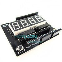 "5PCS Arduino Digit Shield 0.56"" 7 seg 4 digit Red LED Digital Display Shield"