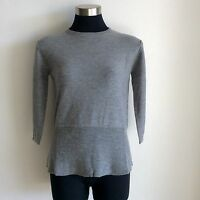 Genres Pure Merino Ladies' Round Neck Jumper With Elbow Sleeve 5 Colour Choices
