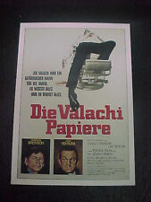 THE VALACHI PAPERS, film card (Charles Bronson, Lino Ventura, Terence Young)