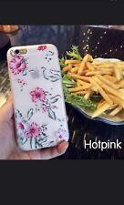 iPhone 7 Plus Fashion Flower 3D Cute Case Cover Silicone TPU Women USA SELLER