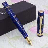 LIY Marble Resin Acrylic Fountain Pen Schmidt Nib Converter F Gift Box-Mushuang