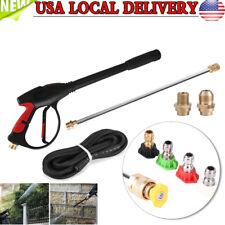 Pro Power High Pressure Washer Spray Water Gun Lance Hose Nozzle Kit 4000PSI US
