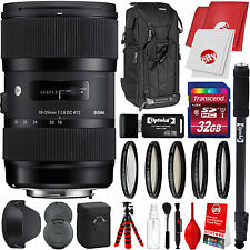 Sigma 18-35mm F1.8 DC HSM A Lens for Canon EF + Advanced Travel Bundle Kit