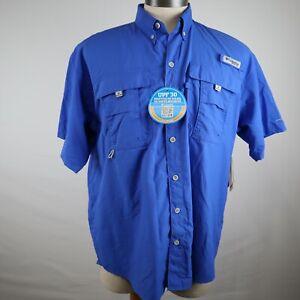 Columbia PFG Omni-Shade Men's Button Up Short Sleeve Vented Fishing Shirt Size M
