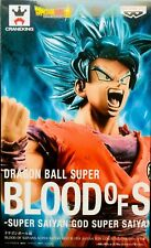 Figura Su Goku Ssgss Azul Gana Dragon Ball Blood Of Saiyans Banpresto