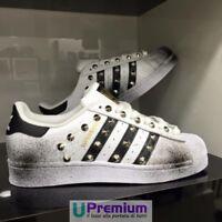 Adidas Superstar Borchiate Sfumate Nero Plus [Prodotto Customizzato] Scarpe ORIG