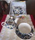 Floral Ceramic China Tea Pot, Cup & Saucer set