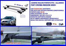 Kit Barre Portatutto - Portabagagli -  Fiat Croma Wagon 2005>