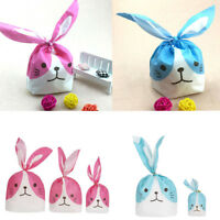50pcs Lovely Rabbit Ear Cat Cookie Bags Self-adhesive Plastic Biscuit Snack Bags