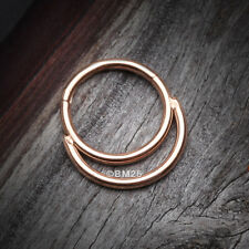 Accent Clicker Hoop Ring Rose Gold Classic Double Loop
