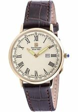 Steinhausen Men's Swiss Quartz Stainless Steel Leather Dress Watch(Model: S0124)