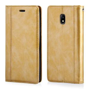 Custodia per Samsung J3 2017 portafoglio libro carte chiusura magnetica Oro