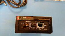 2752-1S-01 Metrobility Optical Systems 1000 Base Tx To Dual Fx Sa Convrt Mod