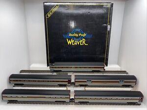 "Weaver Gold Edition Erie Lackawanna 5-Car 20"" Aluminum Passenger Set Used OGauge"