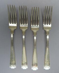 Gorham Sterling Silver Dinner Forks, Etruscan Pattern, Monogrammed