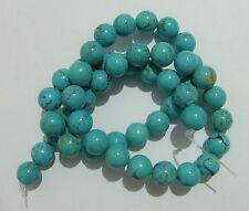 47pz/filo perline pietre in turchese naturale 8mm colore verde acqua bijoux