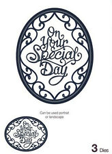 Sue Wilson Dies Expressions Collection ~ Ornate Oval On Your Special day CED5413