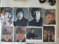 THE BEATLES  8 sheet of photos from  magazine insert, both side photos.