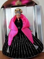 Happy Holidays 1998 Barbie Doll - Blonde, In Black & Pink Out of Box As Is