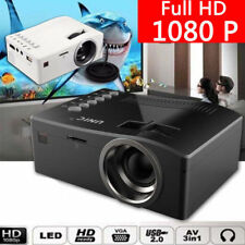 Multimedia Home Cinema Projector 1080p Full HD Video Movie Gaming HDMI USB TV UK