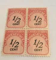 US Scott #J88, Block of 4 1959 Postage Due .5c FVF MNH