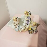 Ucagco China Angel Band On Seashell Planter Hand Painted Japan Gold Trim
