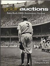 Goldin Auctions BABE RUTH 100th Ann Session 1 & 2 Catalogs 2014 FREE USA SHIP